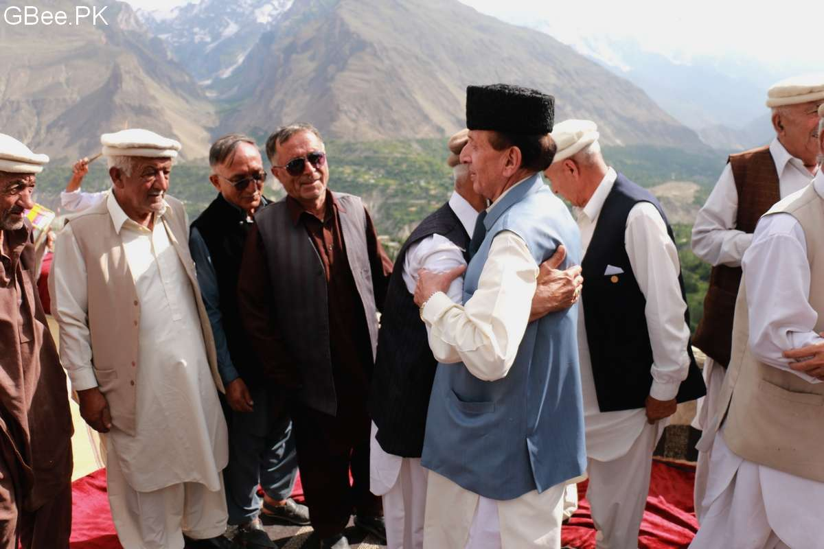 Mir Ghazanfar meeting with local elders