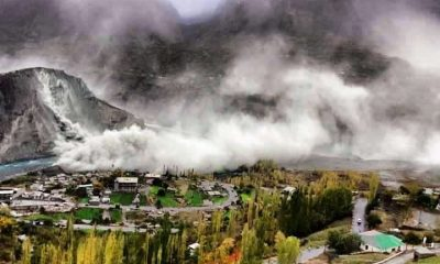 Avalanche and Landsliding in Hunza Valley After Earthquake