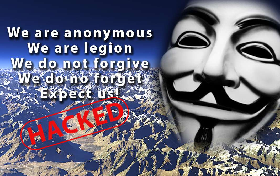 Anonymous Hacker Group Surfaces in Gilgit-Baltistan, Defaces