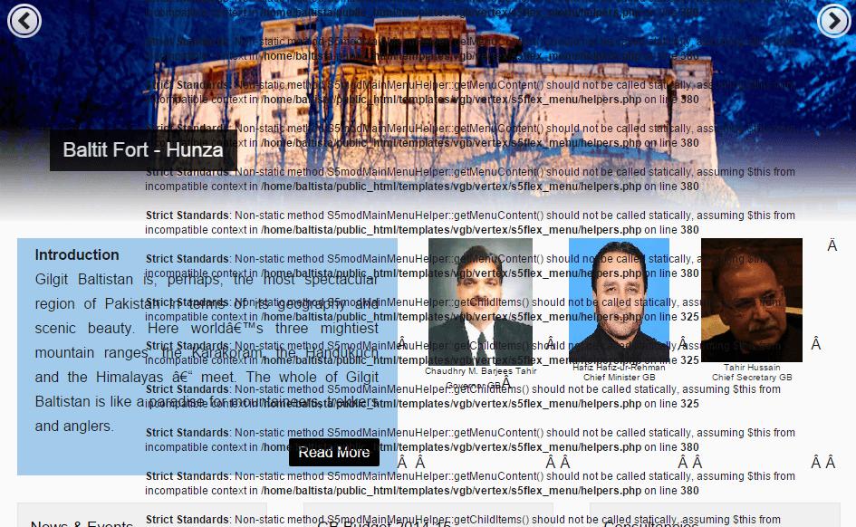 Gilgit-Baltistan tourism department website