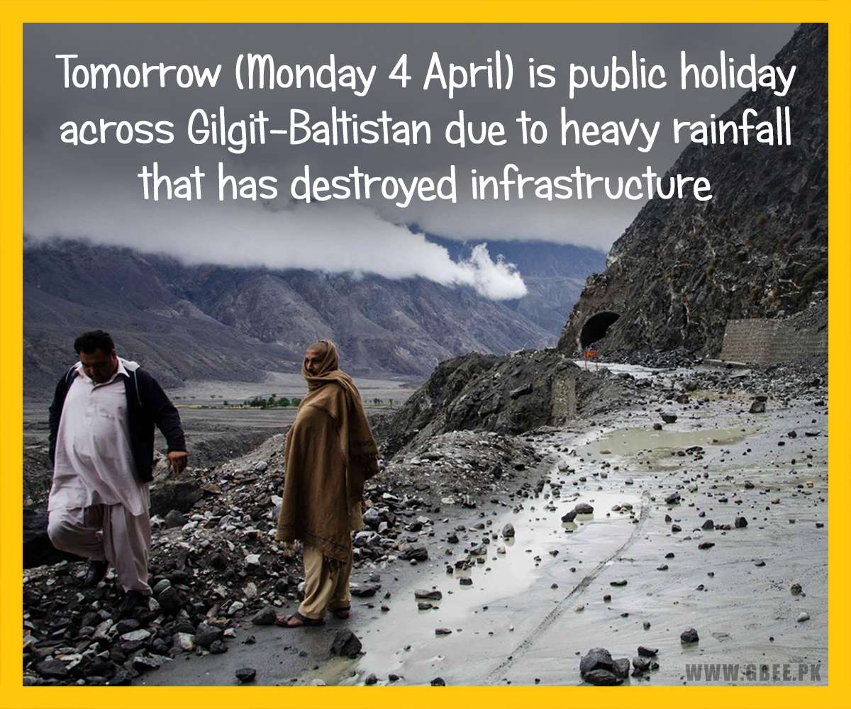 Gilgit-Baltistan Announces Public Holiday on Monday 4 April