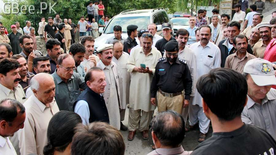 Mir Ghazanfar Ali Khan in Karimabad Hunza