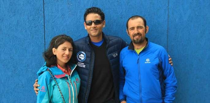 Zaiyad Rahim with Samina Baig and Mirza Ali
