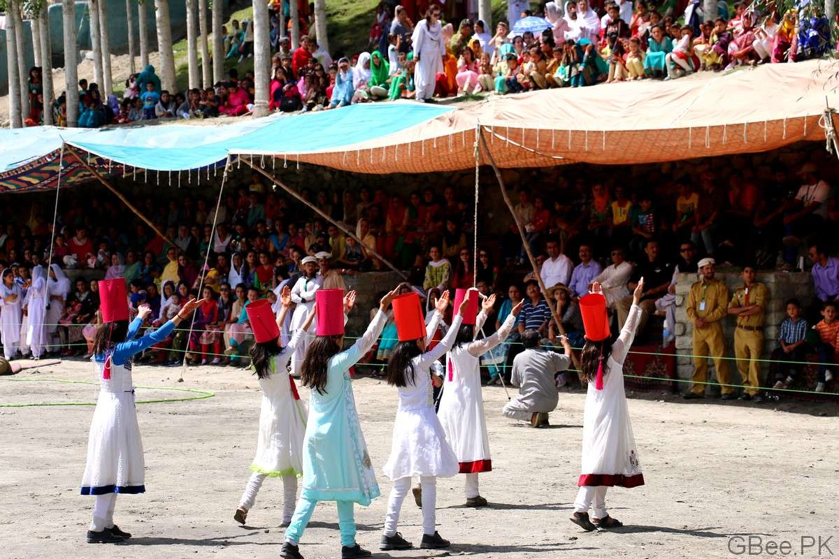 Young Hunza Girls performing tableau