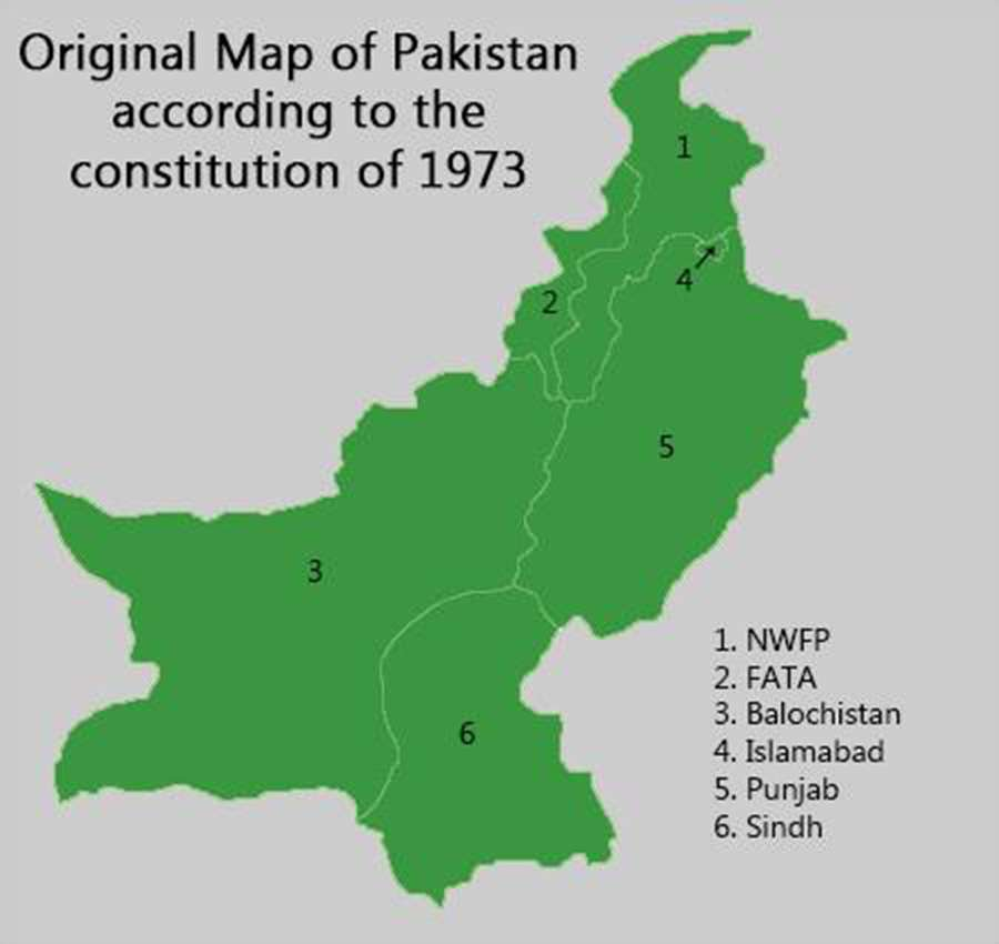 Map of Pakistan