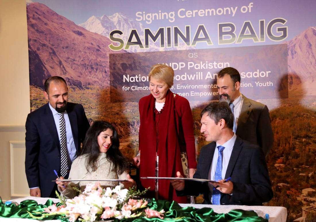 UNDP names mountaineer Samina Baig National Goodwill Ambassador For Pakistan