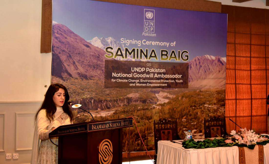 UNDP names mountaineer Samina Baig National Goodwill Ambassador For Pakistan