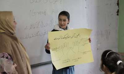 A Hunza school girl at Al Murtaza School in Hunza Valley, Gilgit-Baltistan