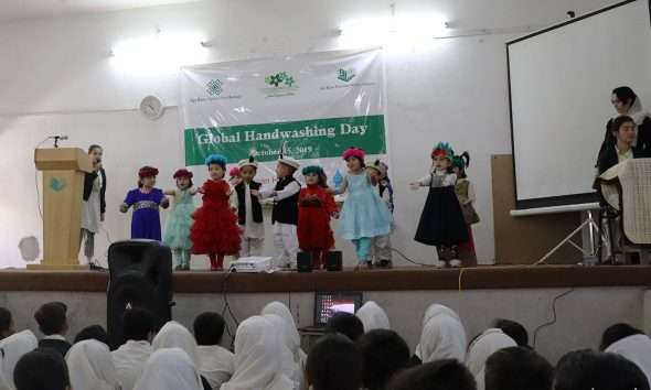 Kids perform at Global Handwashing Day 2019 in Gilgit