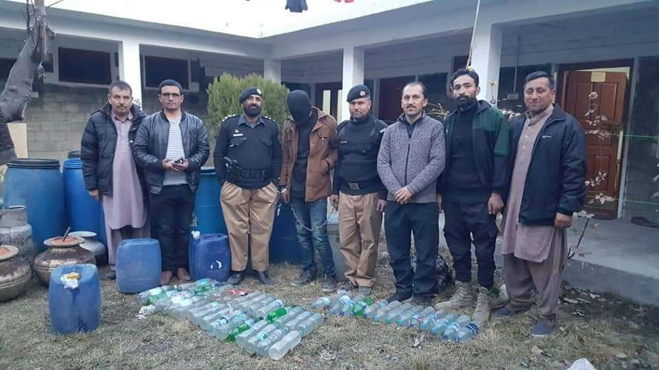 Hunza Police Raids and Seizes 230 liters of Araq Moonshine - Hunza Water