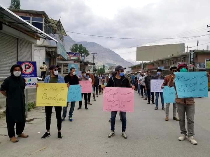 Protest against internet issues in Gilgit-Baltistan