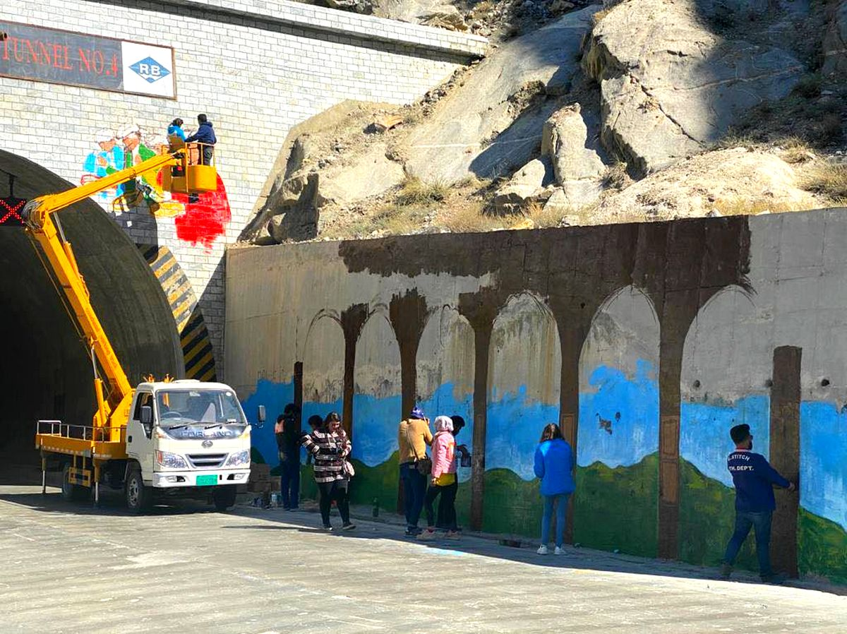 Attabad Lake KKH paintings by Sweet-Tooth